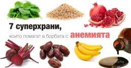 7 суперхрани, които помагат в борбата с анемията