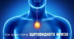 Щитовидната жлеза кои храни обича?